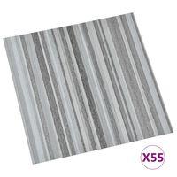 vidaXL Planches de plancher autoadhésives 55 pcs PVC 5,11m² Gris clair