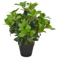 vidaXL Plante artificielle avec pot Laurier Vert 40 cm