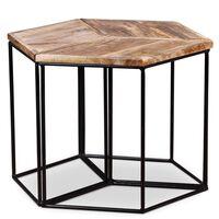 vidaXL Table basse Bois de manguier massif 48 x 48 x 40 cm