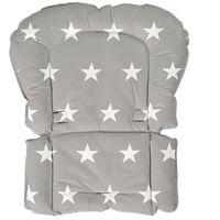 roba Coussin de siège rembourré Little Stars Gris 50x65x3,5 cm