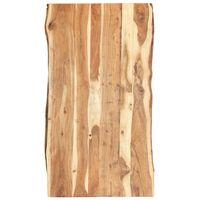 vidaXL Dessus de table Bois d'acacia massif 120x50-60x3,8 cm
