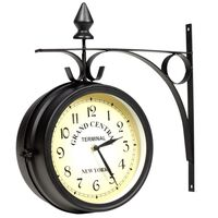 vidaXL Horloge murale double face 20 cm