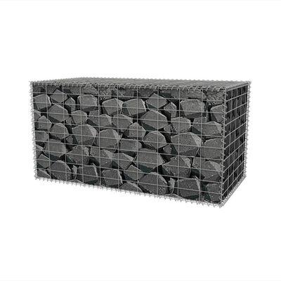 vidaXL Panier de gabion Acier galvanisé 100x50x50 cm