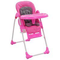 vidaXL Chaise haute pour bébé Rose et gris