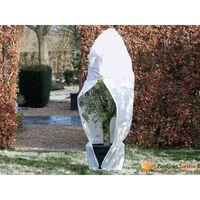 Nature Couverture d'hiver avec fermeture 70 g/m² Blanc 2,5x2x2 m