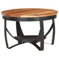 vidaXL Table basse Ø68x43 cm Bois d'acacia solide