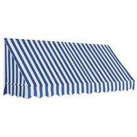 vidaXL Auvent de bistro 250x120 cm Bleu et blanc