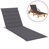 vidaXL Coussin de chaise longue Anthracite 200x70x4 cm Tissu