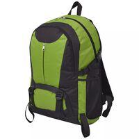 vidaXL Sac à dos de randonnée 40 L noir et vert