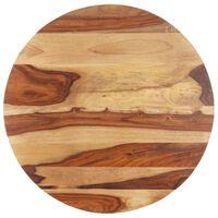 vidaXL Dessus de table Bois solide Rond 25-27 mm 80 cm