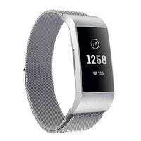 Bracelet Fitbit Charge 3/4 milanaise - argent - S