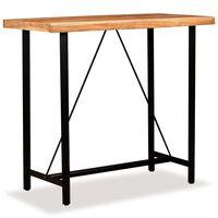vidaXL Table de bar Bois massif d'acacia 120x60x107 cm