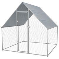 vidaXL Cage extérieure pour poulets Acier galvanisé 2 x 2 x 1,92 m