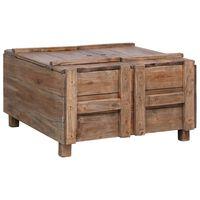 vidaXL Table basse 65x65x38 cm Bois de récupération solide