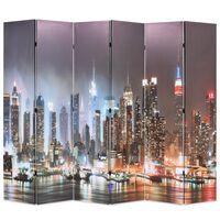 vidaXL Cloison de séparation pliable 228 x 170 cm New York la nuit