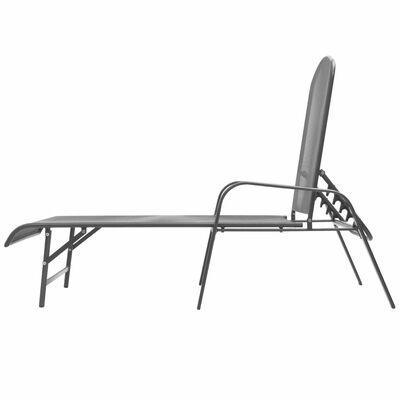 vidaXL Chaise longue Acier Anthracite
