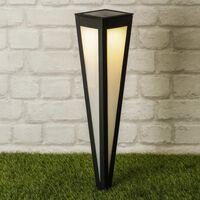 HI Lampe sur piquet solaire à LED de jardin 58 cm Noir