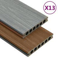 vidaXL Panneaux de terrasse et accessoires WPC Marron/gris 26 m² 2,2 m