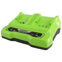 Greenworks Chargeur à double fente 24 V 2 A