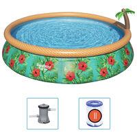 Bestway Ensemble de piscine gonflable Paradise Palms 457x84 cm