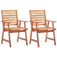 vidaXL Chaises de salle à manger d'extérieur 2pcs Bois d'acacia massif