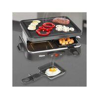 Tristar Grill à raclette pour 4 personnes 500 W 22x17,5 cm Noir