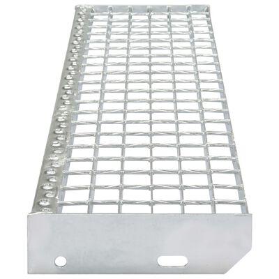 vidaXL Marches d'escalier 4 pcs Acier galvanisé forgé 800x240 mm