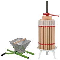 vidaXL Ensemble de 2 presse-agrumes et presse à fruits