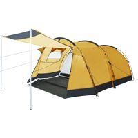 vidaXL Tente de camping tunnel 4 personnes Jaune