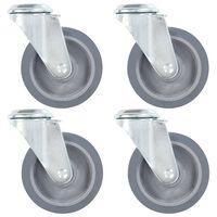 vidaXL 8 pcs Roulettes pivotantes à trou de boulon 100 mm
