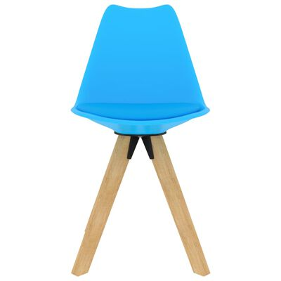 vidaXL Chaises de salle à manger 4 pcs Bleu