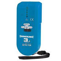 Détecteur 3-en-1 compact - 1 pile 9 V PP3 - 477936 - Silverline