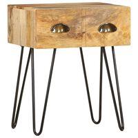 vidaXL Table de chevet 40 x 30 x 50 cm Bois de manguier massif