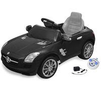 vidaXL Voiture électrique pour enfants Mercedes Benz SLS AMG Noir 6 V