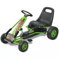 vidaXL Kart à pédale avec siège ajustable Vert