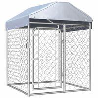 vidaXL Chenil extérieur avec toit 100 x 100 x 125 cm