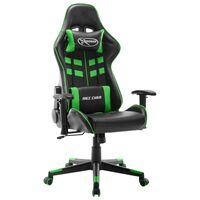vidaXL Chaise de jeu Noir et vert Cuir artificiel