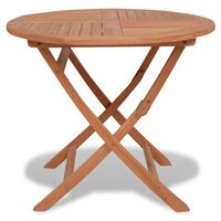 vidaXL Table pliable de jardin 85x76 cm Bois de teck solide