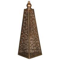 Luxform Lighting Lampe à LED sur piles Pyramid 45 cm Cuivre