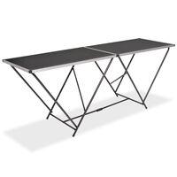 vidaXL Table pliable de collage MDF et aluminium 200 x 60 x 78 cm