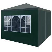 vidaXL Tente de réception 3 x 3 m Vert
