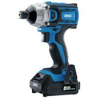 Draper Tools Perceuse à chocs sans balais et 2 batteries D20 20V 180Nm