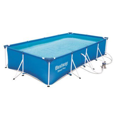Bestway Jeu de piscine rectangulaire Steel Pro 400x211x81 cm 56424
