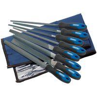 Draper Tools Jeu de limes et de râpe d'ingénieur 8 pcs 200 mm 44961