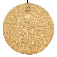vidaXL Lampe suspendue Crème Sphère 45 cm E27