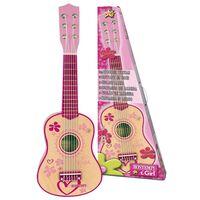 Bontempi Guitare en bois à 6 cordes pour enfants Rose 55 cm