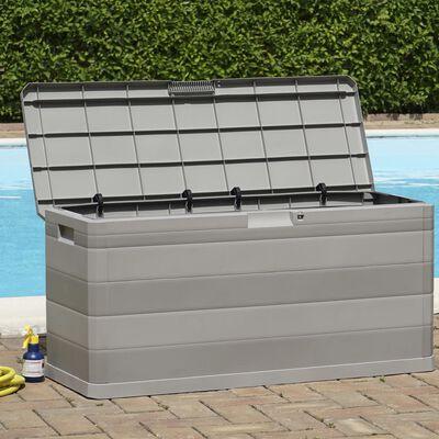 vidaXL Boîte de rangement de jardin Gris 117x45x56 cm