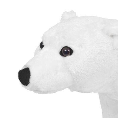 vidaXL Jouet en peluche Ours polaire Blanc XXL