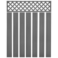 vidaXL Panneaux de clôture de remplacement WPC 7 pcs 170 cm Gris