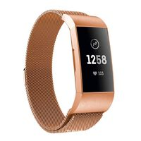 Bracelet Fitbit Charge 3/4 milanaise - or rose - S